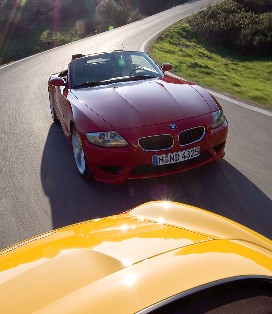 Bmw Z4 Reviews: 2007 BMW Z4 M Roadster Vs 2006 Porsche Boxster S