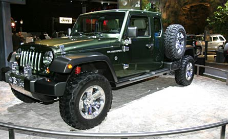 Jeep Gladiator Concept Front Drivers Side View on Good Looking Truck Drivers