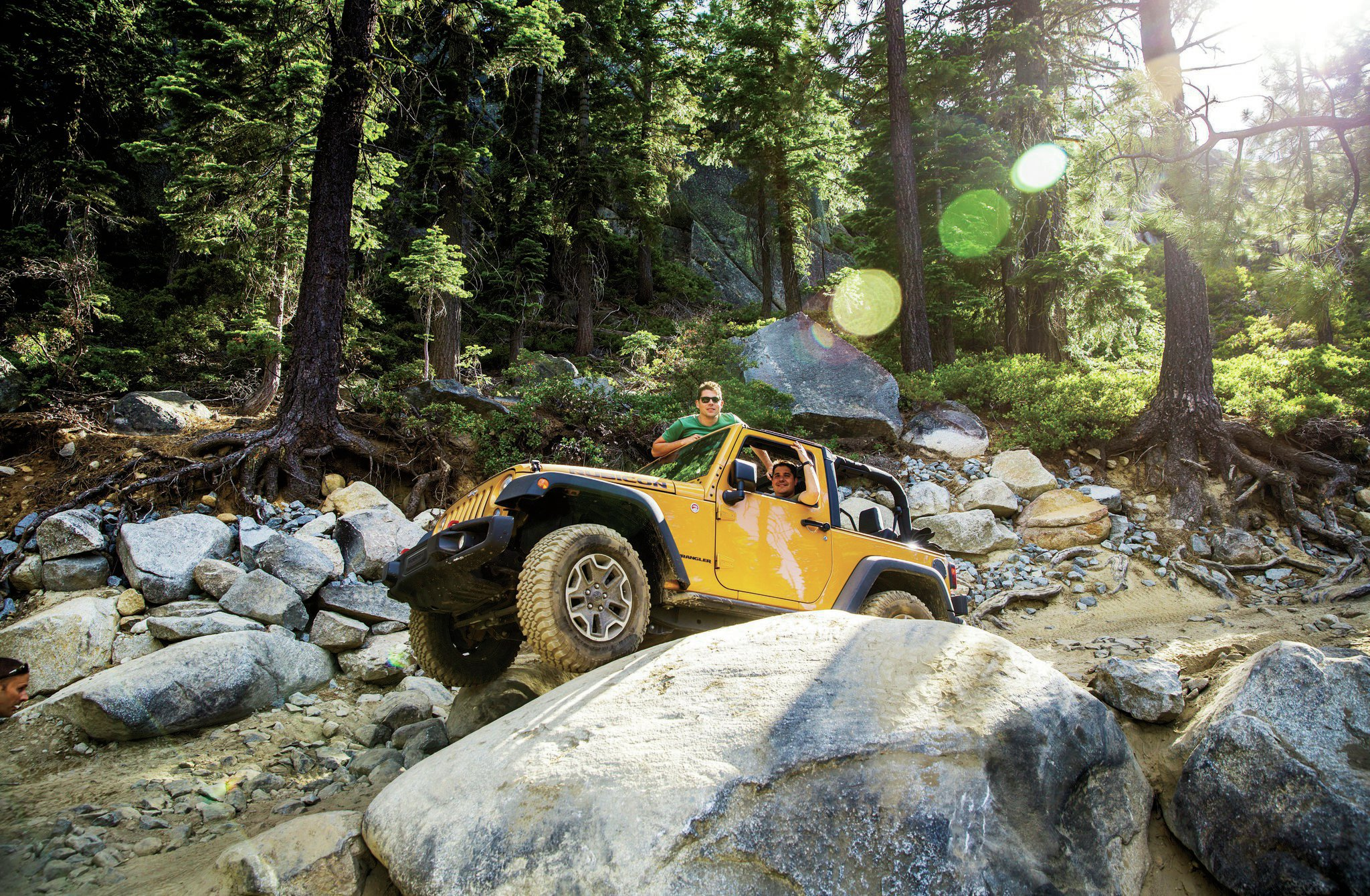 Trail & tribulations: The first part of the Rubicon is known as the Granite Bowl.