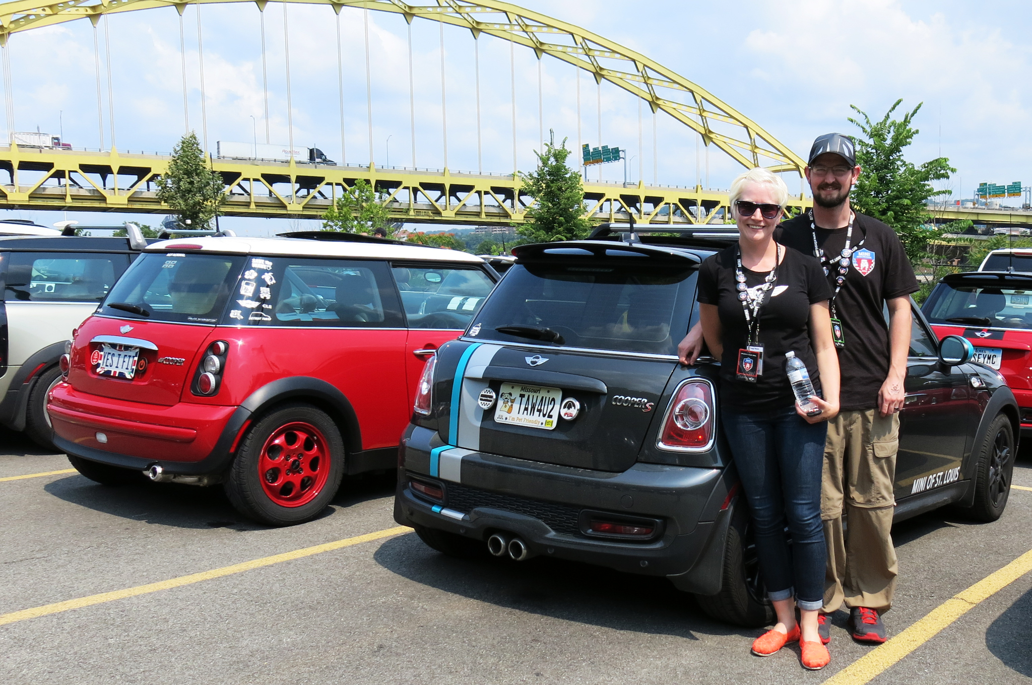 Tracy and Ben Reust of St. Louis, MO, bought their grey 2013 Mini Cooper last year and heard about MTTS from their dealer, Mini of St. Louis.