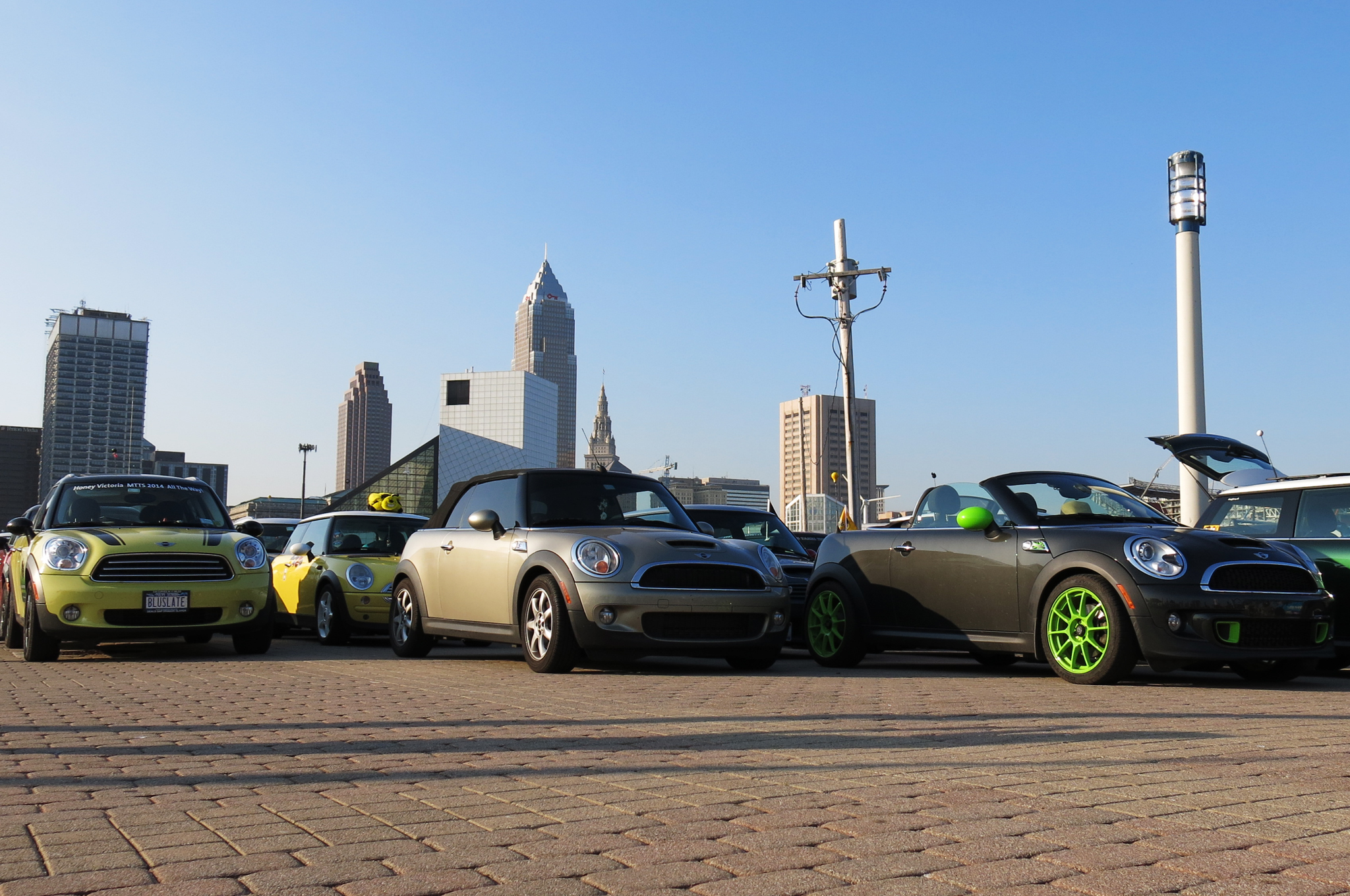 Lined up and ready to go on the 9th Street Pier in Cleveland, OH.