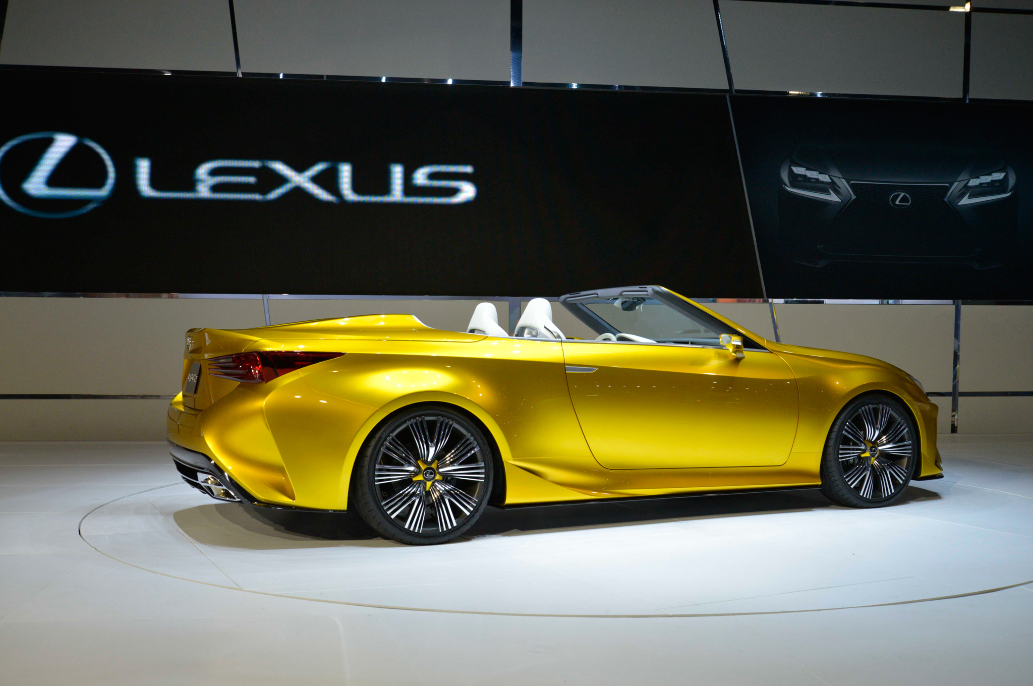 lexus lf-c2 concept hits l.a., likely previews rc convertible
