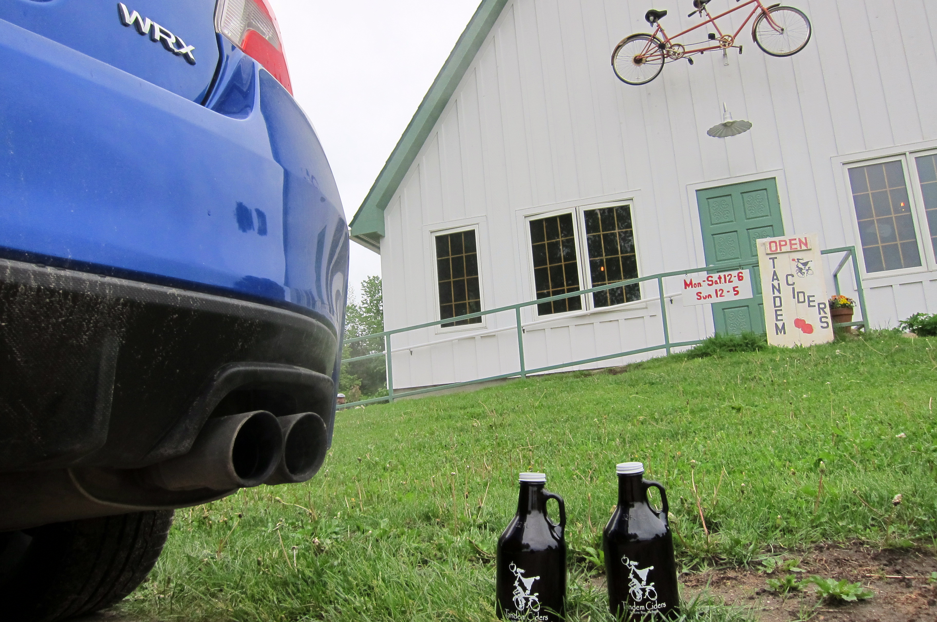 Tandem Ciders in Suttons Bay is a refreshing stop-over after a long hike.