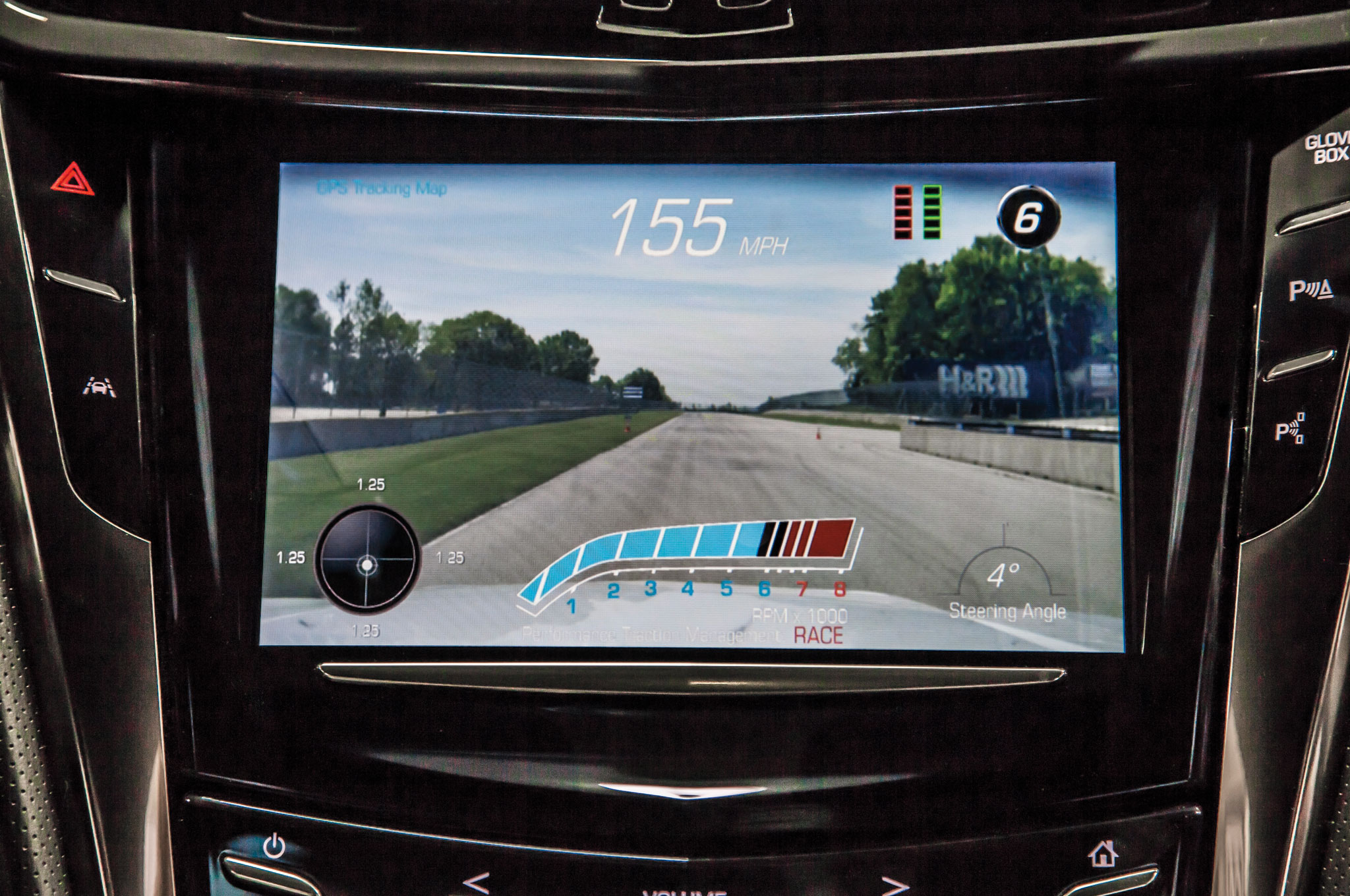 The CTS-V's $1,300 performance data recorder can capture high-definition video.