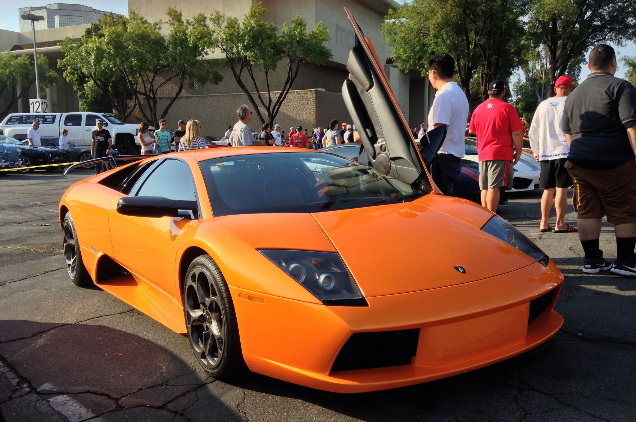 The best color for a Lamborghini, arguably, is orange – as is evident with this pristine Murcielago.