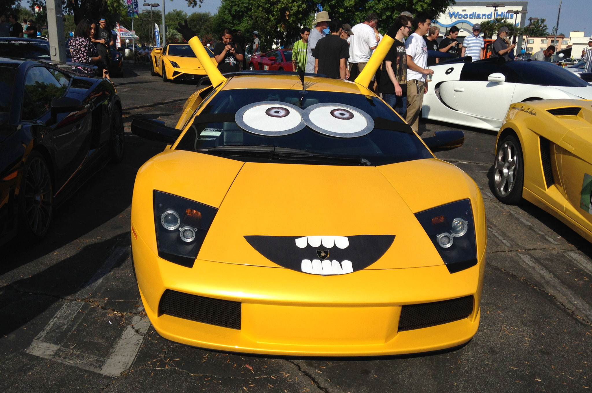 Can't help but feel sorry for the loss of dignity a Murcielago must feel being dressed up as a minion.
