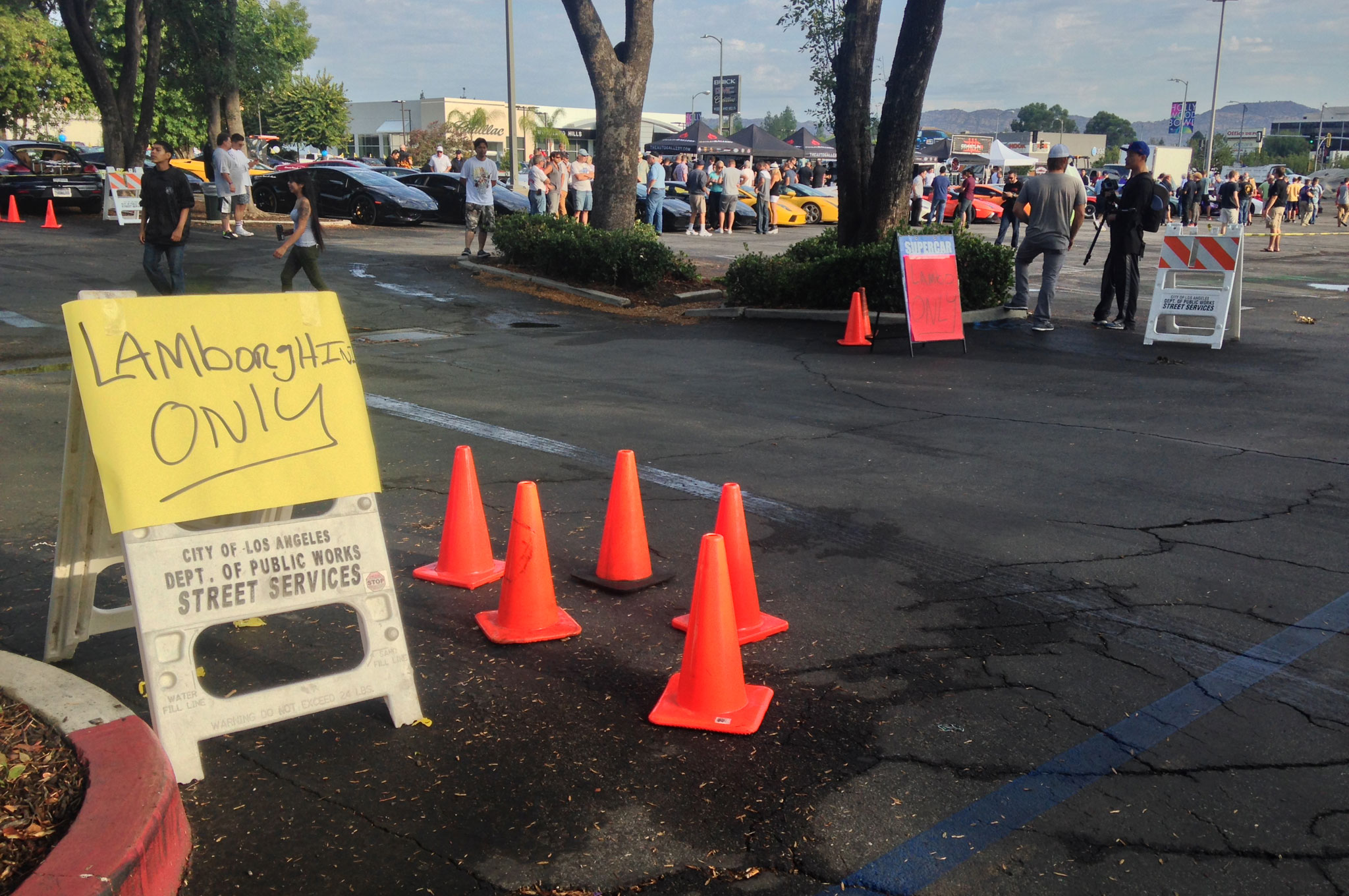 The Auto Gallery's Supercar Sunday draws many makes and models of old and new cars, but one large swath of the parking lot was reserved for the cars that bear the surname of Ferruccio Lamborghini.