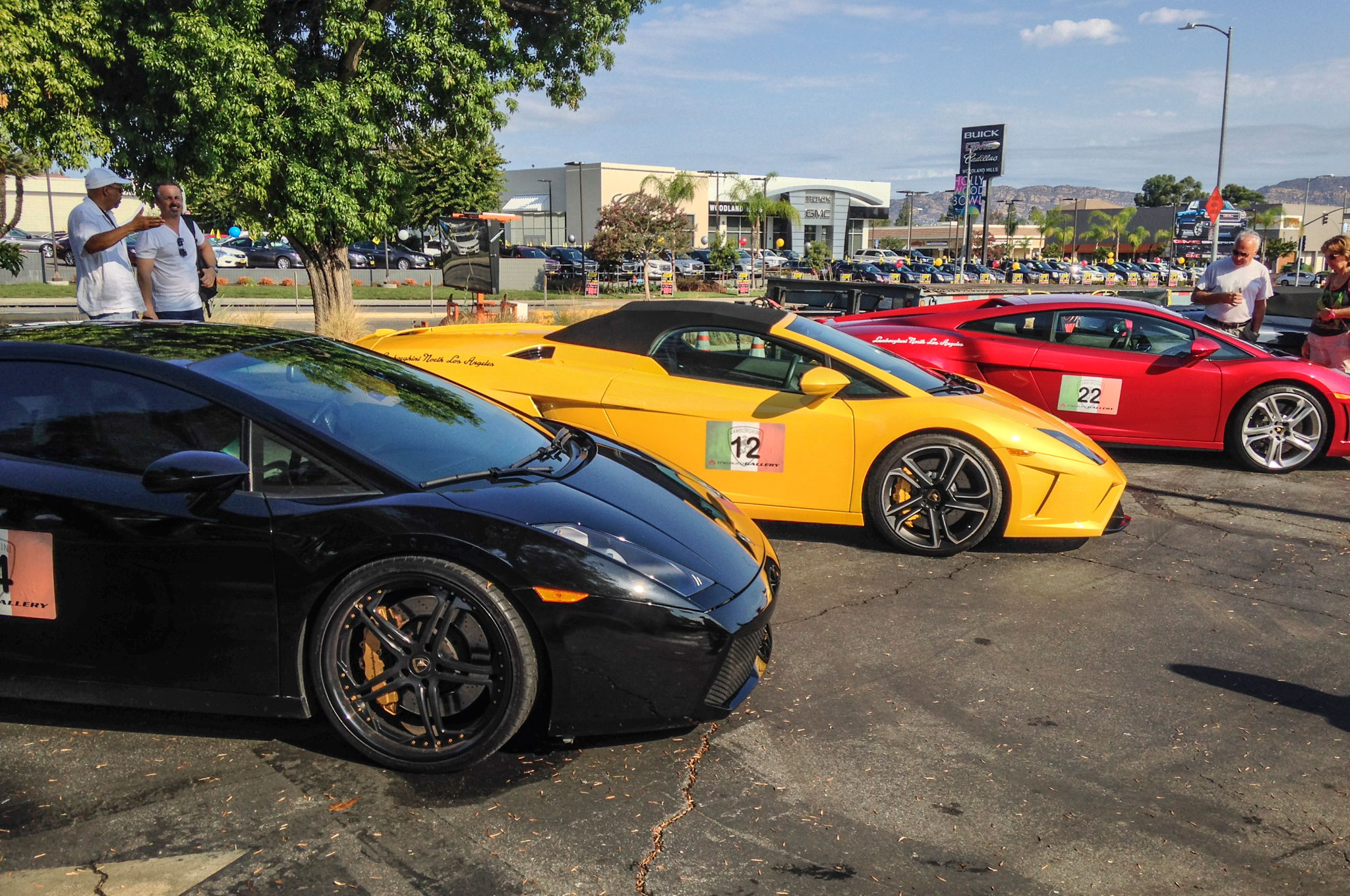 The Auto Gallery kept track of the Lambos on our run through the canyons by carefully attaching numbers to each six-figure machine. A herd of 50 bulls charged through the hills above Malibu together.
