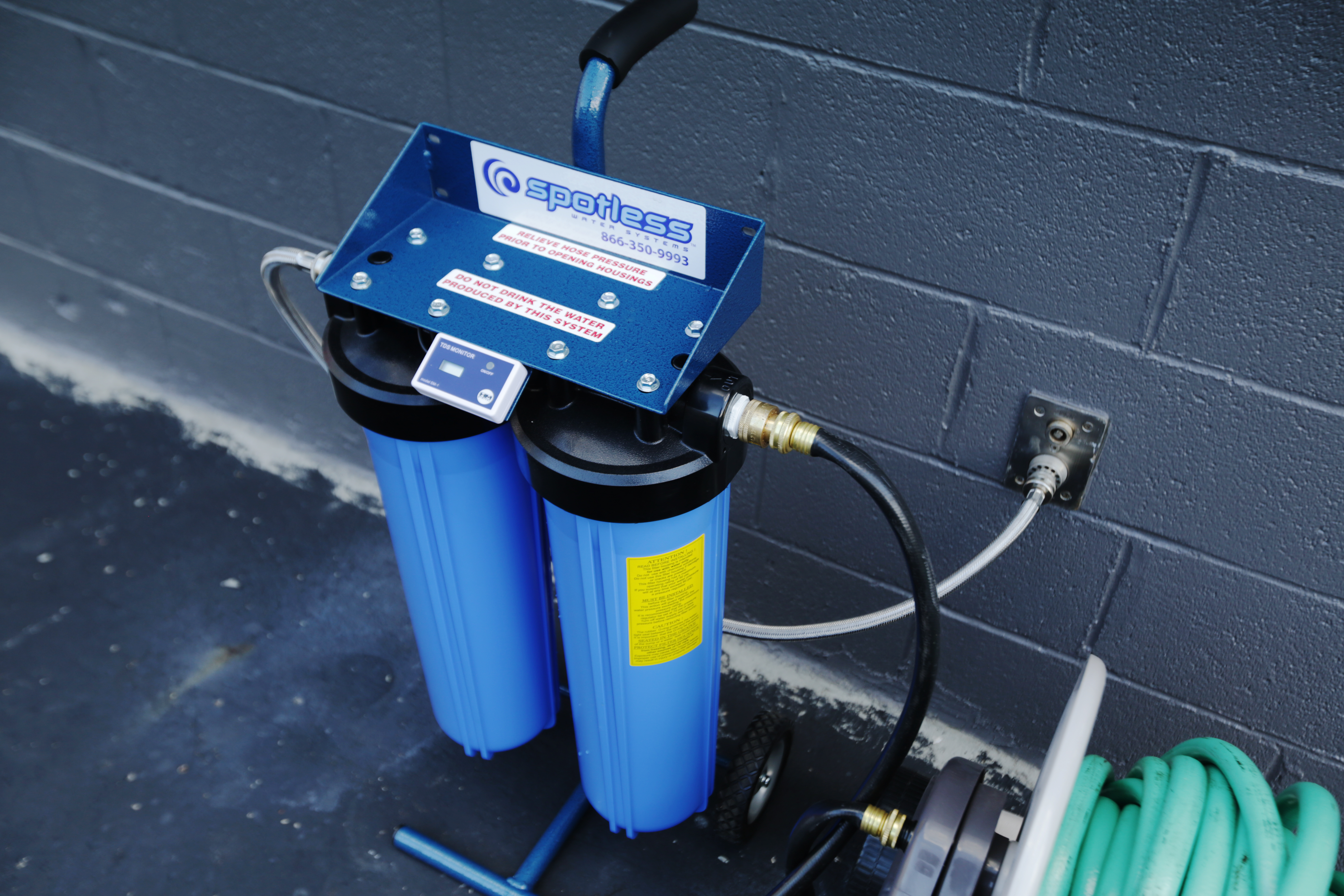 This Spotless car wash system helped our car dry quickly and without streaks.