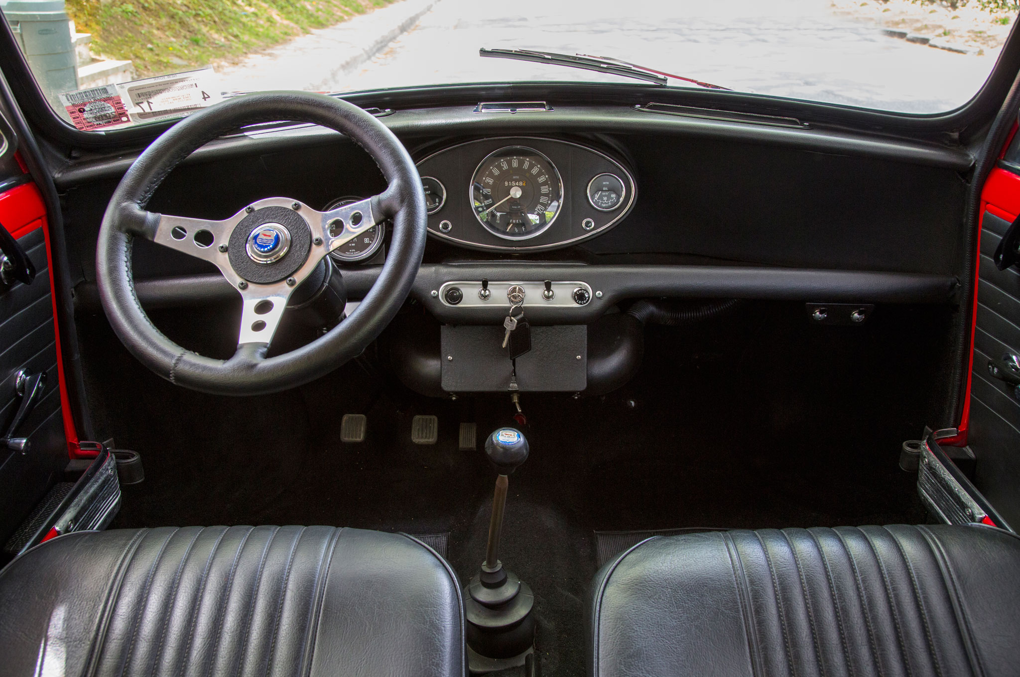 The Mk II's interior is ascetic compared with the modern Mini's.