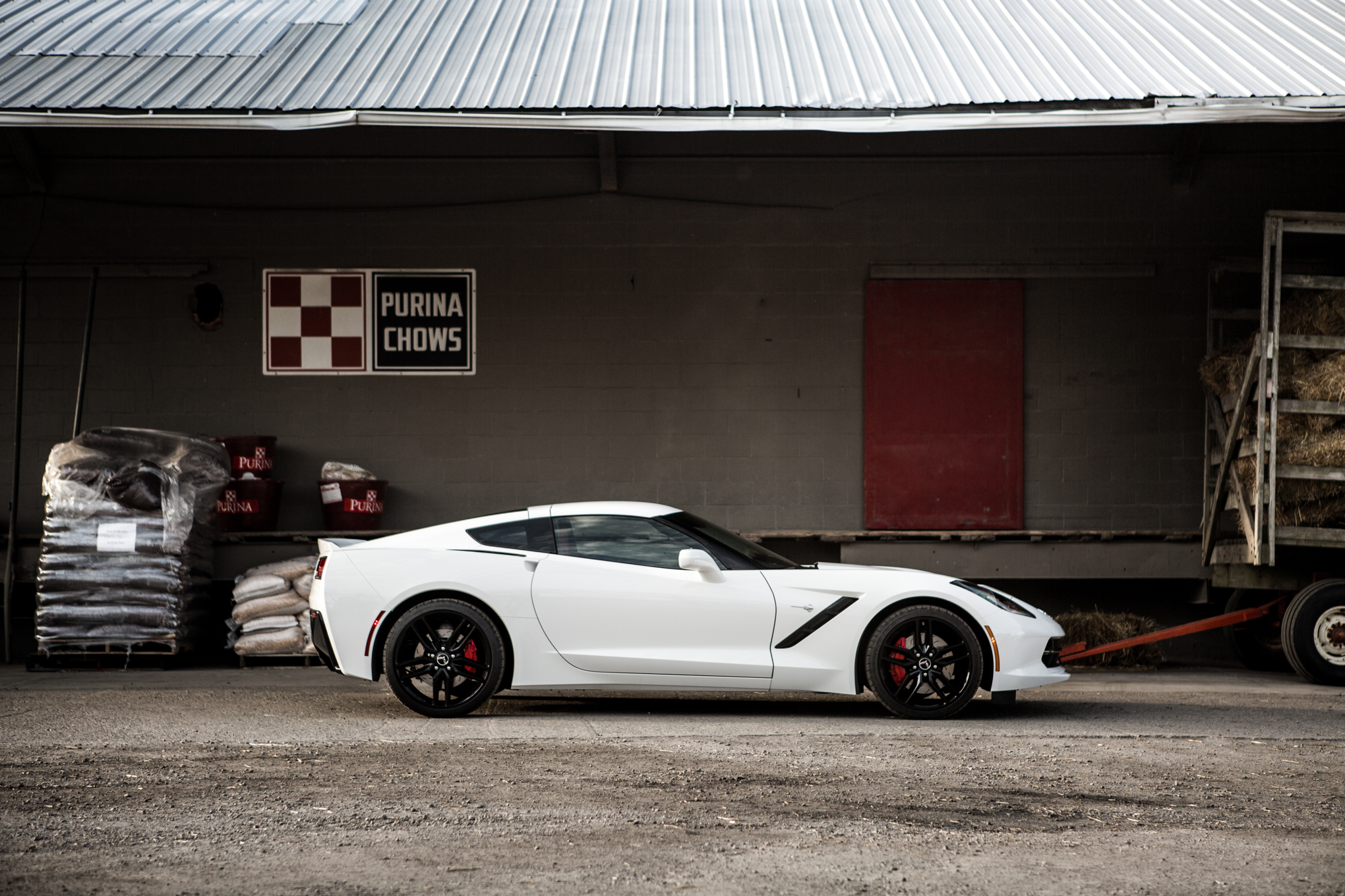 We never tired of the Corvette's aggressive, angular styling.