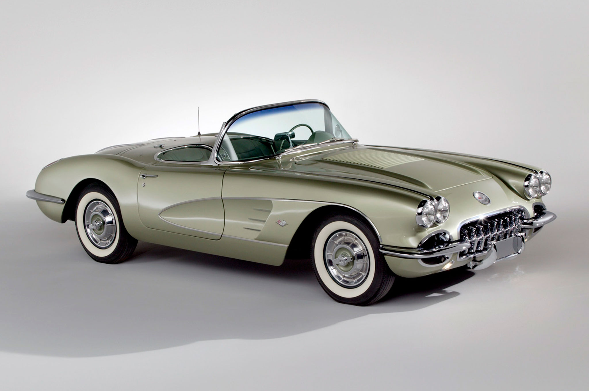 Ruth Glennie's Fancy Free Corvette was restored a decade ago by a private collector.