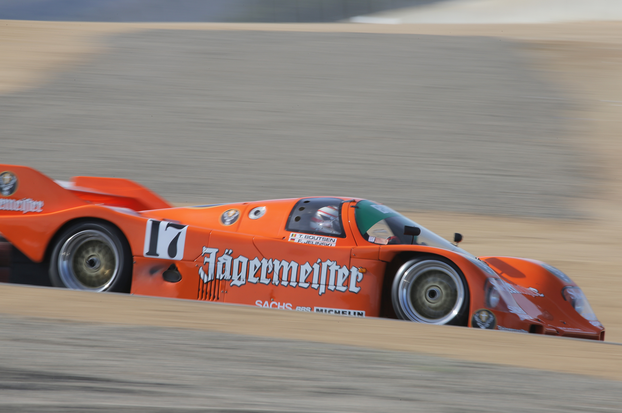 12. A 1986 Porsche 962 with the famous Jagermeister livery.
