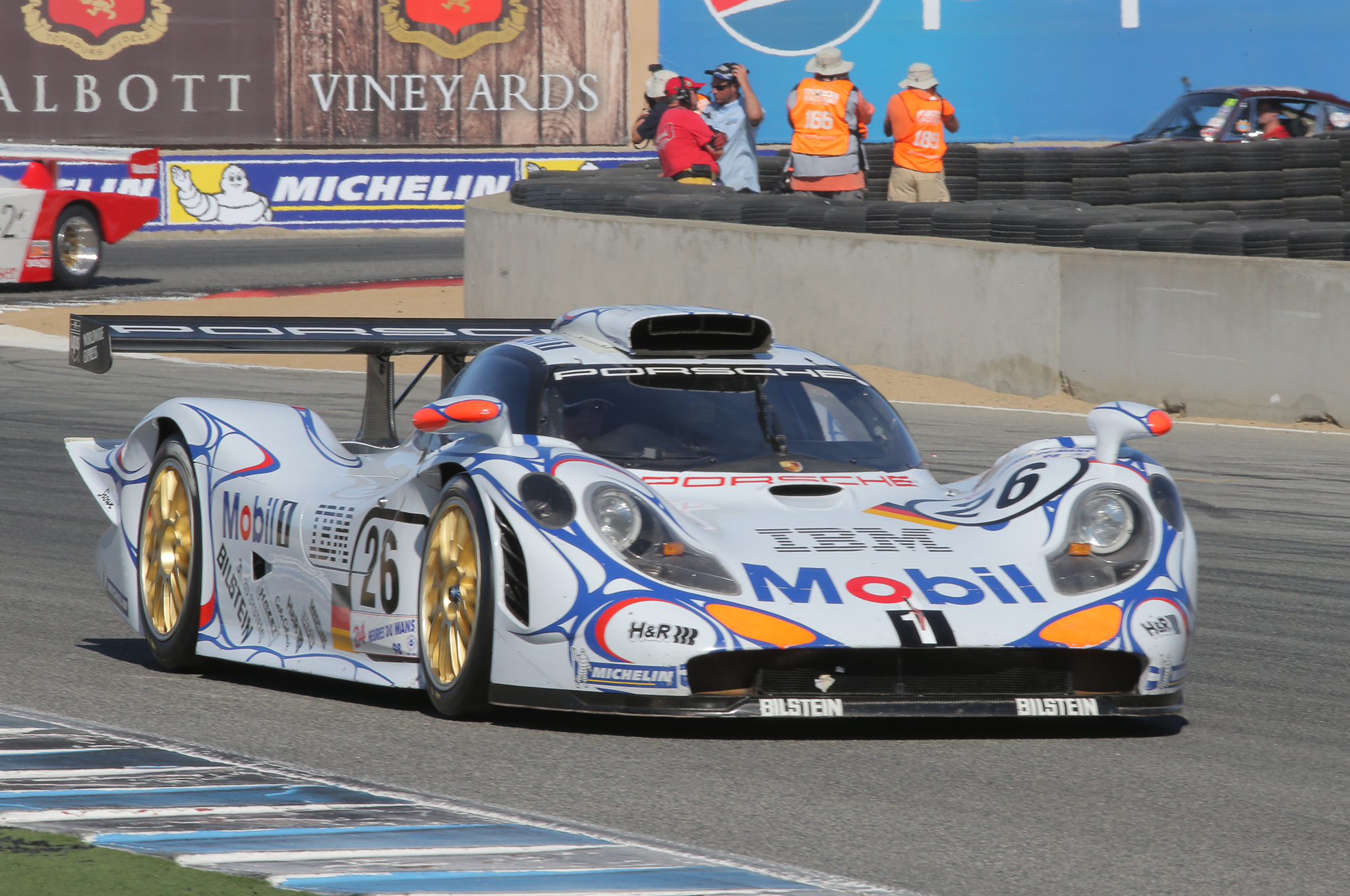 9. The winner of the 1998 24 Hours of Le Mans, a Porsche 911 GT1.