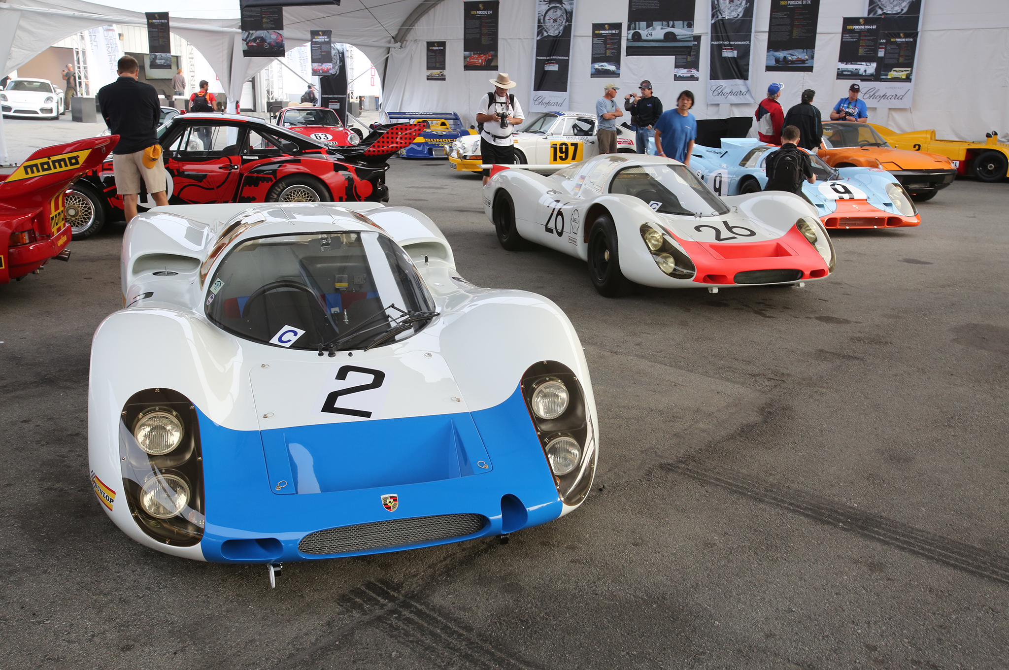 32. Late 1960s Porsches leading to the 917.