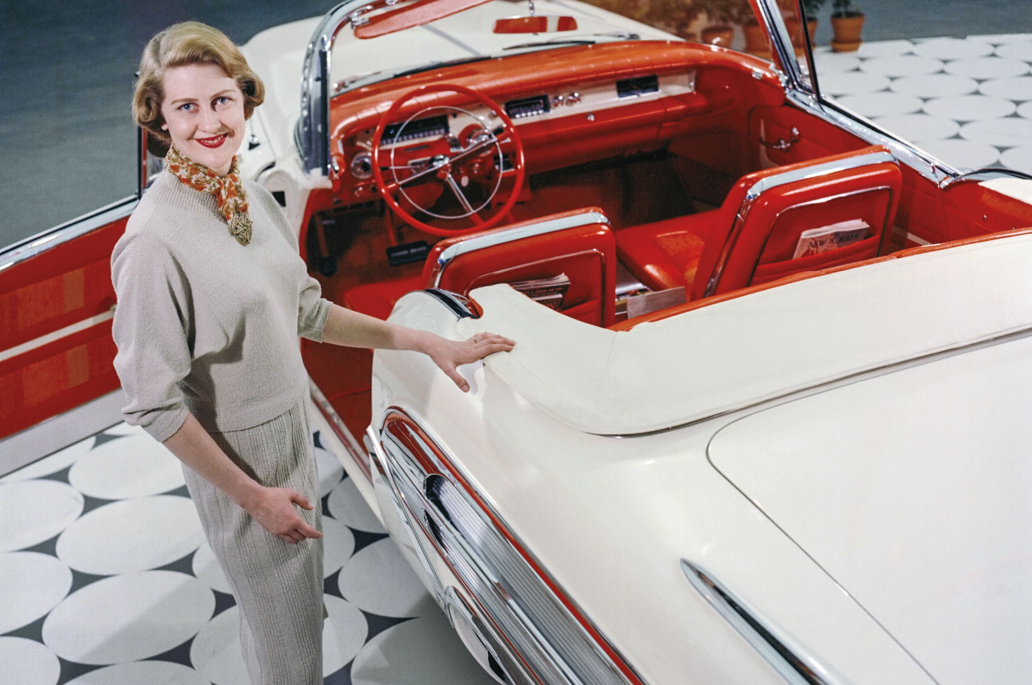 Marjorie Ford Pohlman with the Tampico Buick Special. She also designed a top-of-the-line hardtop (see opening photo).