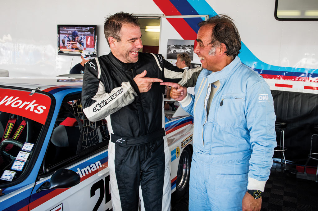 Not only does BMW North America president and CEO Ludwig Willisch (right) have some of the best sideburns in the business, he's a fantastic driver to boot. Willisch drove the 3.0 CSL while the author drove the BMW M1.