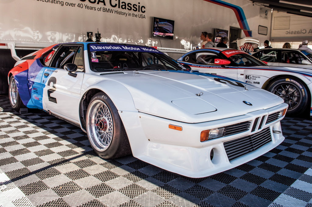 According to the M1's windshield, this is the fifth Rolex Monterey Motorsports Reunion this car has participated in, and we'd happily be at the wheel for its sixth, seventh, and eighth appearances.