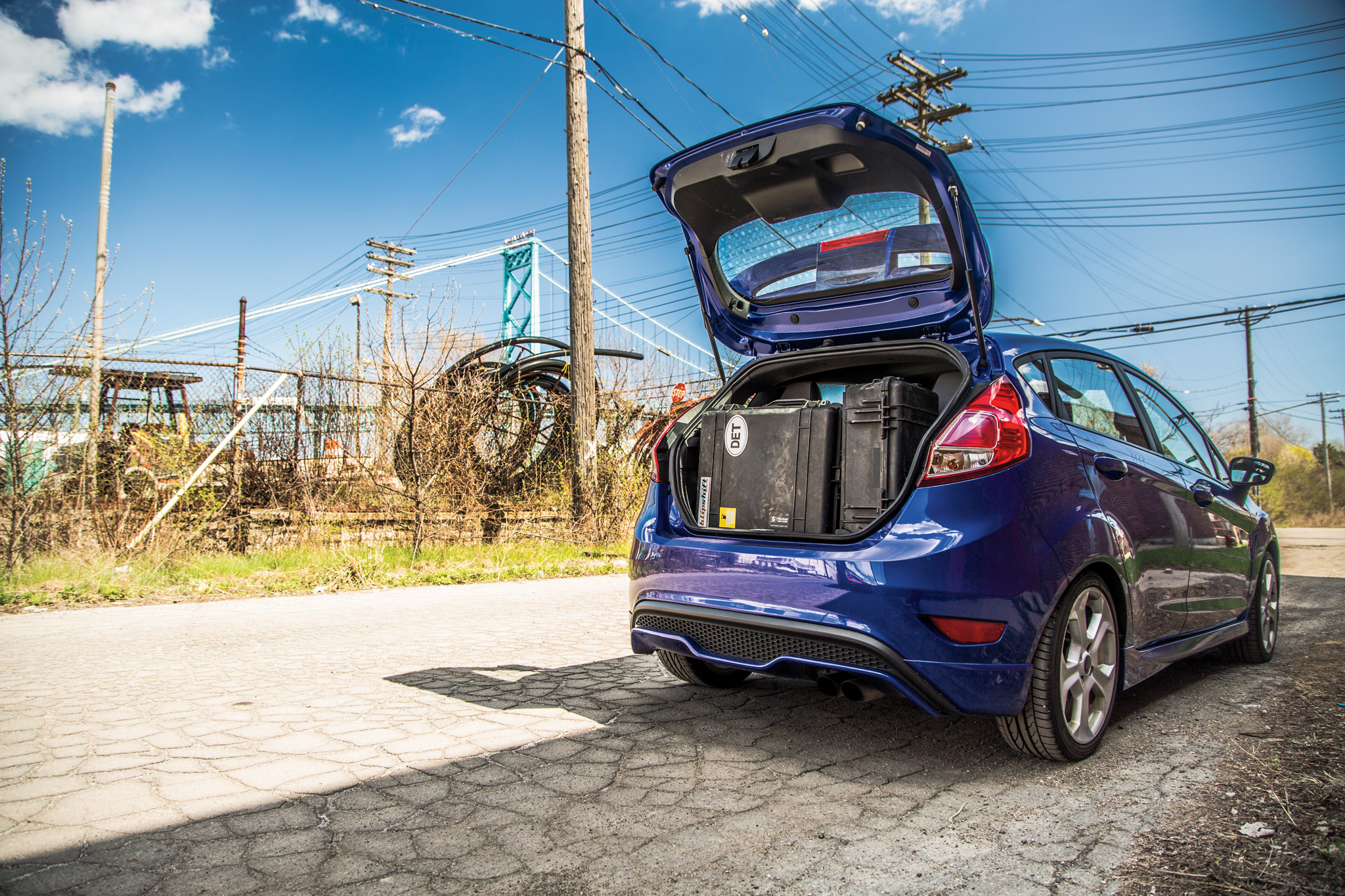 Good luck fitting this much junk in the Subaru BRZ's trunk—staff photographer Patrick M. Hoey managed to cram all of his equipment into the ST on a road trip through the Midwest.