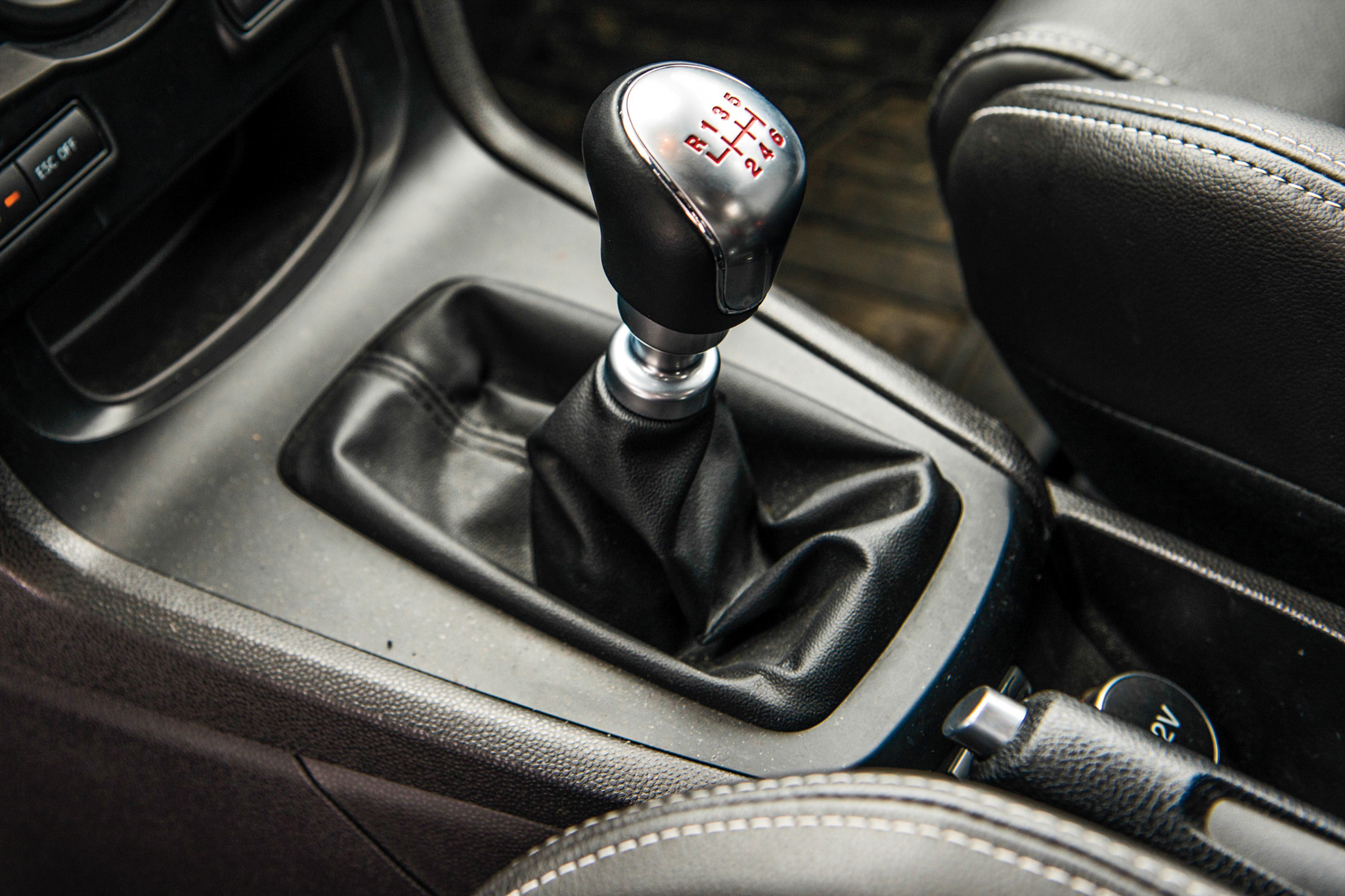 You won't find any dual clutches or paddle shifters here—a good old six-speed manual is the only transmission choice.