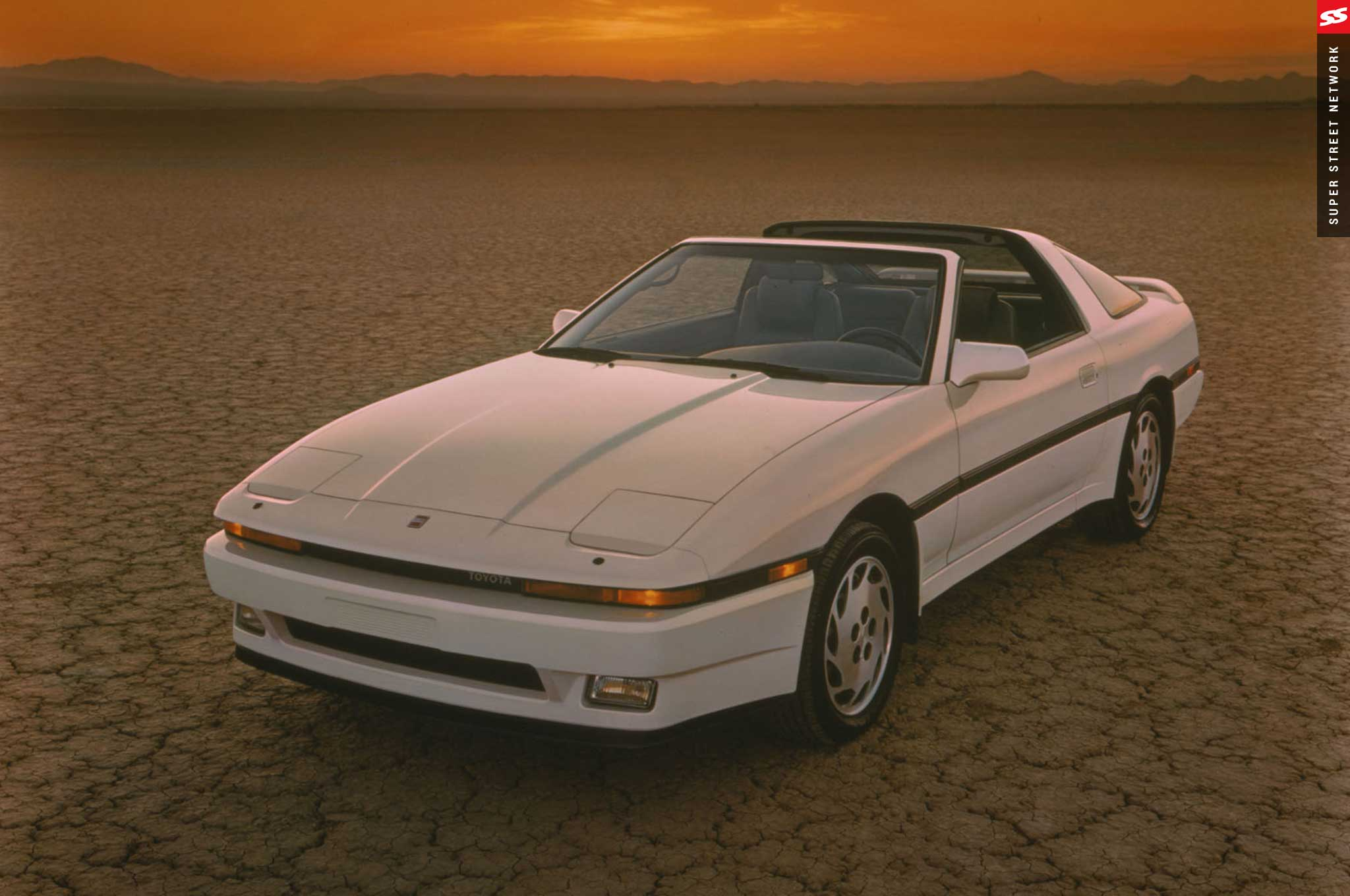 Third-gen Supra with a targa top—not that super but still a cool if you ask us!