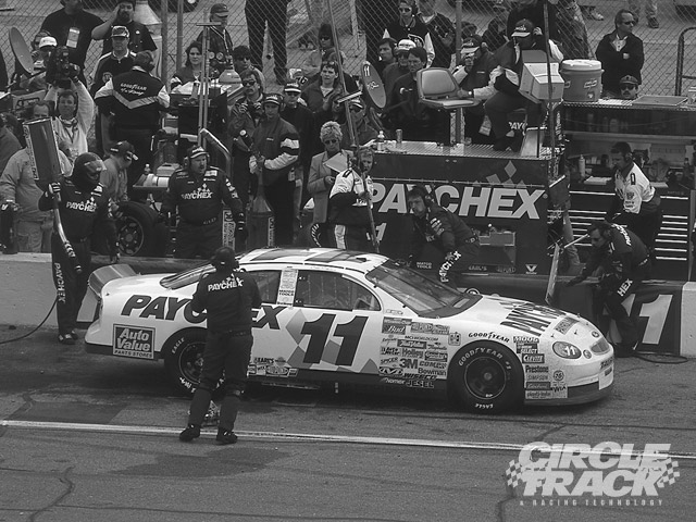 The Paychex Ford comes in for service during the Daytona 500 earlier this year.