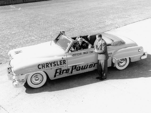 Whether as a Pace Car for the Indy 500 (A), or as the star supporting the starlet (B), Chryslers and Imperials were fabled luxury cars in their day. By 1958, its final year of availability, the Hemi engine had grown to 392 ci, with 390 bhp and fuel injection to boot (C). Like its later 426-inch cousin, the FirePower story ended with a bang, not with a wimper.