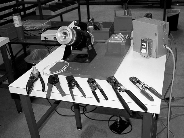 Proper crimp tool selection is almost as important as the wiring system itself. Poor crimps may cause unreliable connections and broken wire strands. Crimping tools range from the more expensive powered crimpers to the basic manual crimper most racers should have in their tool box.