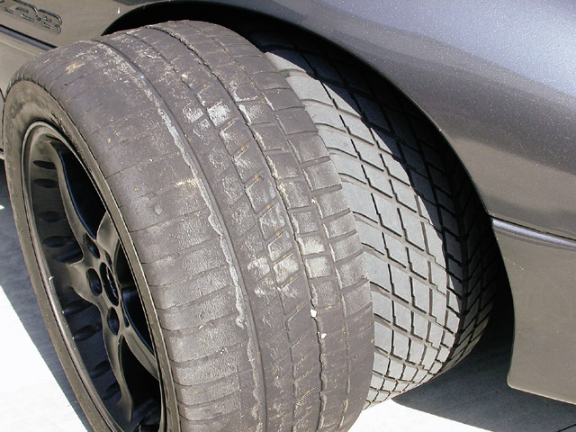 Most novices start with street tires, such as the Goodyear GS-Cs mounted on the author's '94 Camaro. If you plan on road racing often or just want more grip (or more lifespan for your street tires!), we recommend you upgrade to a set of DOT race tires on separate rims. These Kumho V700 Victoracers measure 275/40VR17, or about 25 percent more footprint over our stock tire. Softer rubber improves grip over stock by an even greater margin.