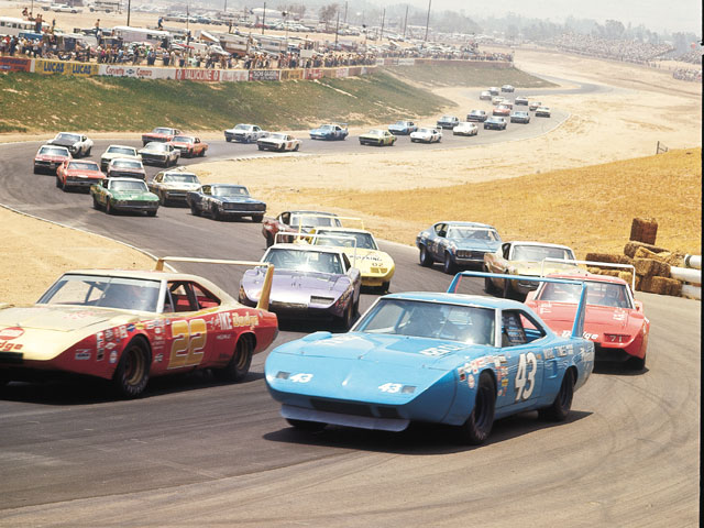 This killer shot from the '70 Falstaff 500 at Riverside defines why, winged or not, the retro NASCAR look would slay on the streets of today.