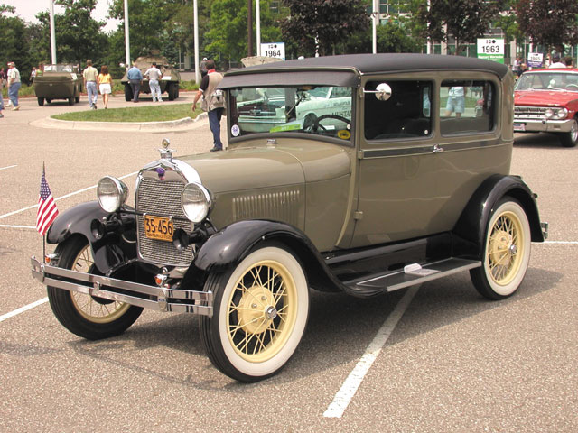 1928: Less than a year after the Model T left production, Ford introduced the upscale Model A--not to be confused with the original A of 1903--with updated styling, improved creature comforts and features, and more color choices.