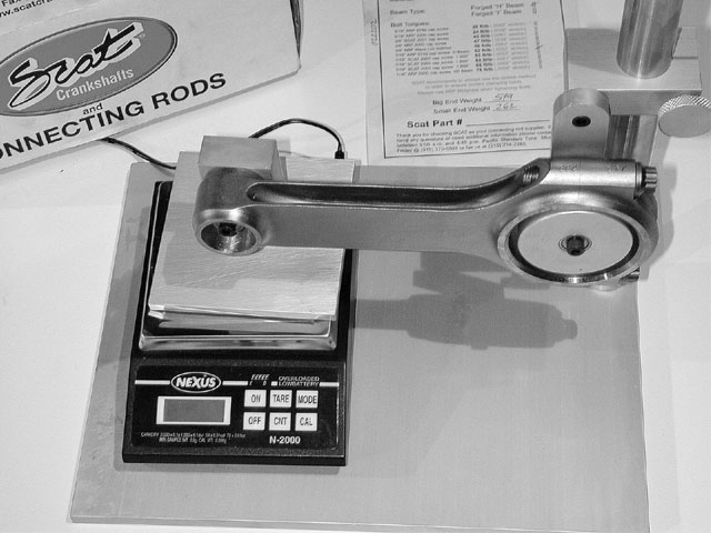 Balancing starts with weight-matching to get a weight spec for the internal engine components. Then, the effective weight-bob weight-is calculated.