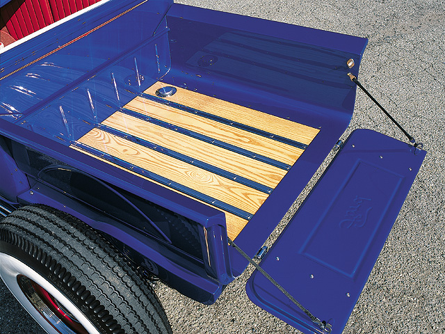 The truck bed has been severely modified to the size and shape Hansen thought was proportionally correct.