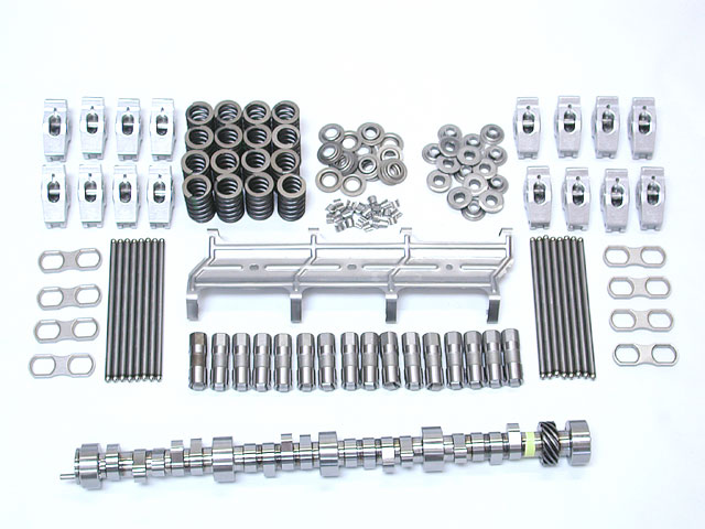 We decided a hydraulic roller might offer some power advantages, so we opted for the GM Performance Parts hydraulic roller Hot cam and kit complete with pushrods, springs, retainers, and a set of GMPP guided roller rockers. The rockers are matched to the cam and offer an improved 1.6:1 ratio.