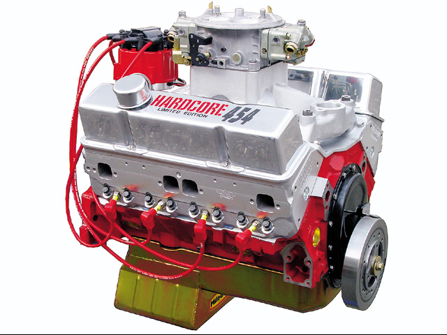 Shown here: World Hardcore 454 small-block, 600 horsepower, and 575 lb-ft torque for $10,495.