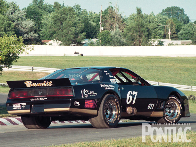 Even after 22 years, this '82 Trans Am race car still looks great, a survivor in every sense of the word. Note the Super Trapp mufflers coming out of passenger door.