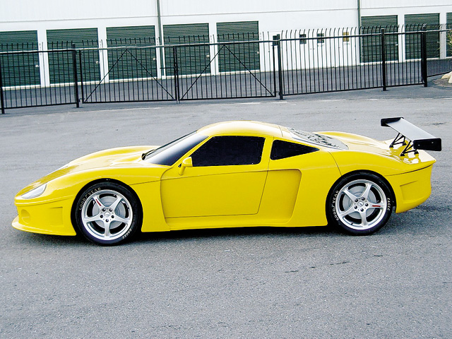 A 98-inch wheelbase and McLarenesque look make the GTM-200 one of the hot cars for 2004.