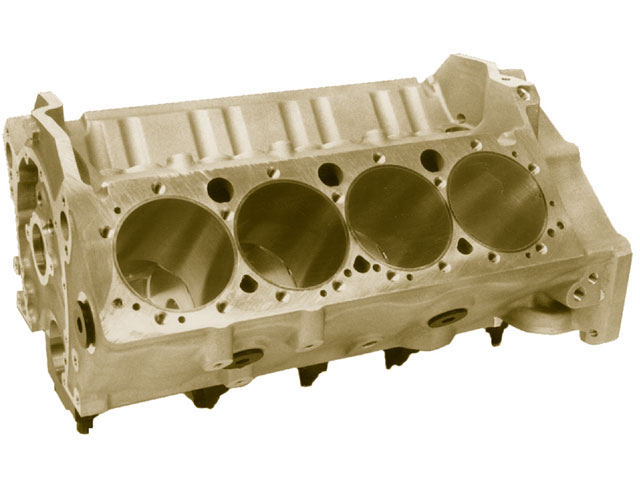 Racing-engine blocks can be composed of various materials. Popular choices include aluminum and iron.