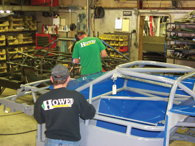 Constructing a chassis is a precise and time-consuming process. Measurements are taken often and welds are inspected for best possible quality. Each manufacturer takes pride in its work and will not let a flaw keep the car from its best possible performance.