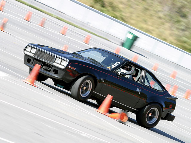 In addition to drag racing, the local SCCA chapter designed and operated the autocross course portion of the event, allowing everyone to blast between the cones after a basic tech inspection. Here's RSE competitor George Doughtie and his '79 AMC Spirit GT negotiating through the course. Yes, it's an AMC, and yes, it was impressive!
