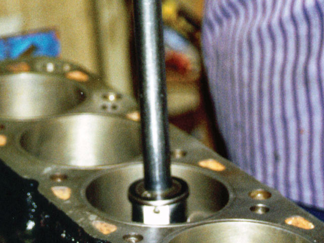 A dial bore gauge can determine the finished size of the cylinder.