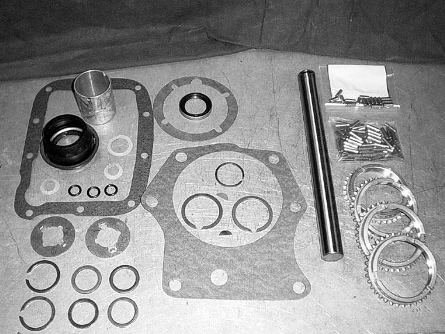 These are the parts needed for a quality rebuild. (Passon Performance can supply all these parts, plus anything else you may need along the way.) Simply taking the tranny apart, cleaning everything, and reassembling it won't solve any issues. These parts are a must for a tranny rebuild that will last a long time.