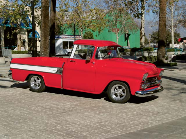 Chevrolet Cameos were produced from 1955 through mid-1958. Always considered rare, well-styled pickups, the '58s were the least produced of the marque. Only 1,405 '58 Cameos rolled off the assembly line before being replaced by the Fleetside model.