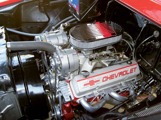 With speed shop components such as Edelbrock, Crower Cams, World Manufacturing, and Holley, Rick Boyd crafted a 355ci Chevy drag racing motor that dynos out at an impressive 425 hp.