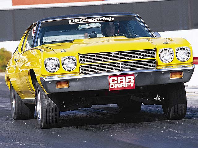 The new BFG Drag Radial tires hooked up extremely well during testing when fitted to Car Craft's Project Cheap Street Chevelle. The Chevelle was tested in full street trim (incorporating a front antiroll bar and street shocks) with its gas tank half full.