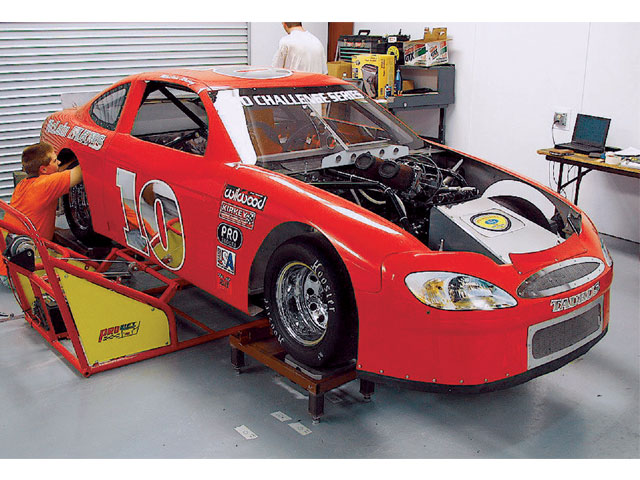Pro-4 race cars are real race cars. They have all of the adjustments of the big Late Model cars. Weight management is just as important to these teams.