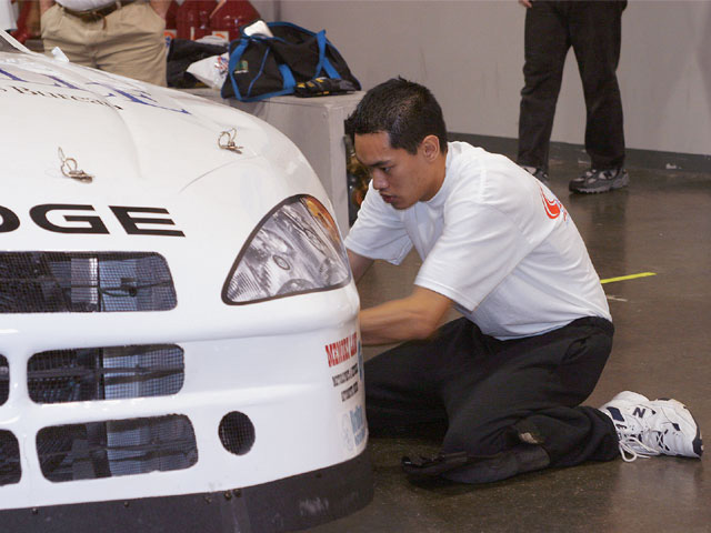 Several of the participants are graduates of the NASCAR Technical Institute, including Cesar Villanueva, who already has over-the-wall experience in both NASCAR and ASA.