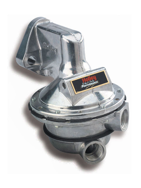 Mechanical fuel pumps have provided adequate performance for racing applications.