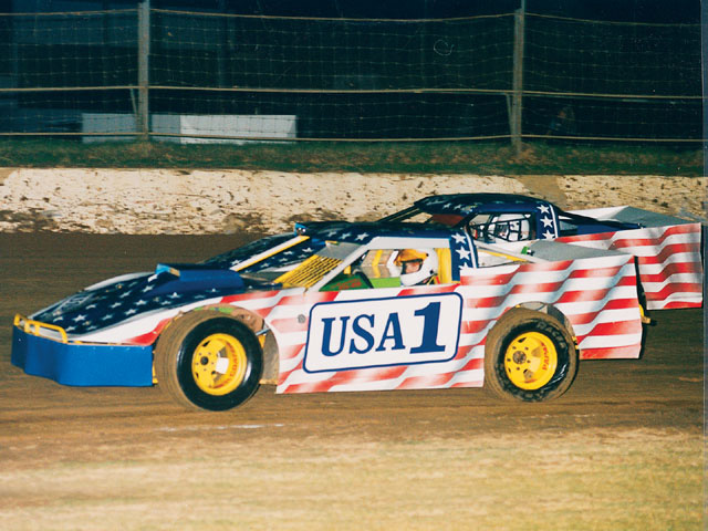 When U.S. drivers come calling in New Zealand, they sometimes rely on the locals for equipment. Father and son Chad and Mel Radwell race a couple of their cars painted up for Americans.