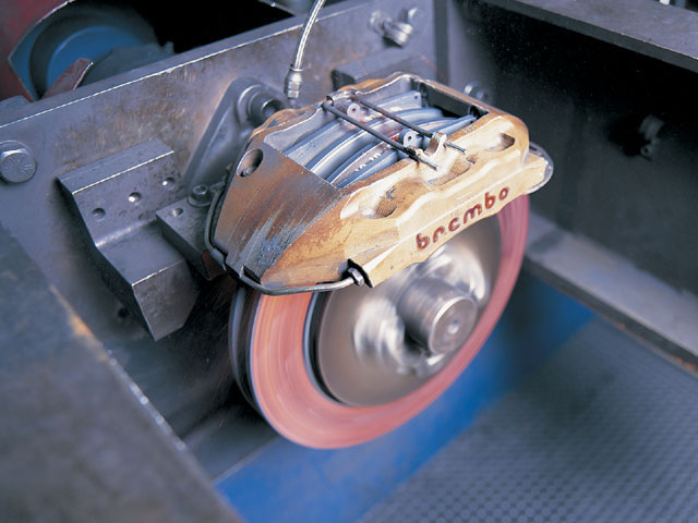 Finding the right brake balance means optimizing everything from the brake pedal to the pads. Fortunately, many companies have already done the grunt work for you. Performance Friction, for instance, regularly tests all of its pad and rotor combinations with every caliper they're designed to fit.